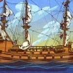 Dibujo de Barco Pirata de Velas