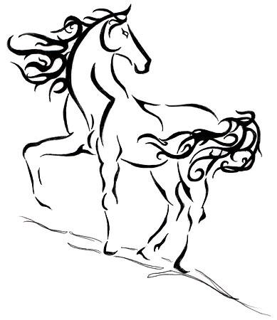 Dibujo De Caballo Para Colorear Fácil Dibujos Fáciles