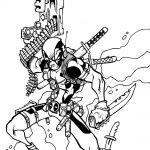 Dibujo de Deadpool armado para colorear