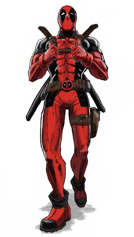 Dibujo de Deadpool indicando OK
