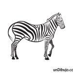 Dibujo de Cebra para Colorear y Pintar