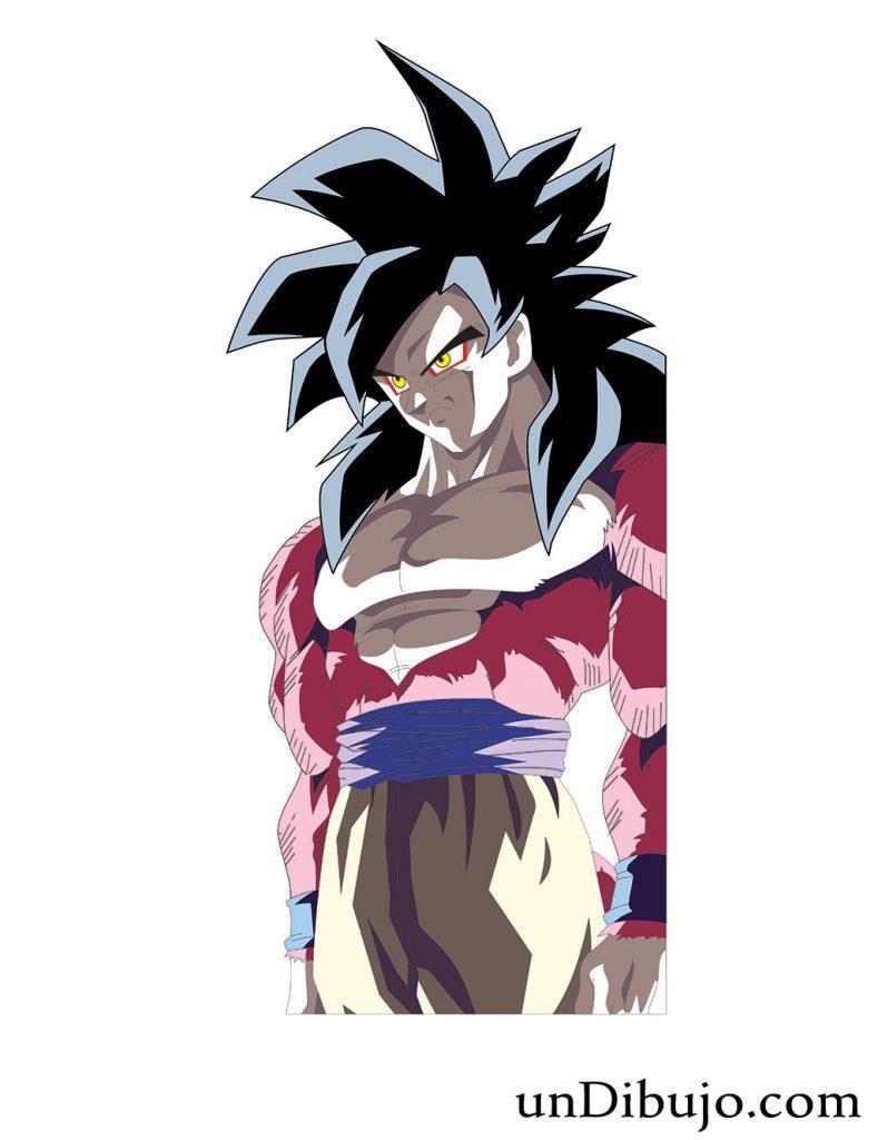 Dibujo de Goku Super Saiyajin 4