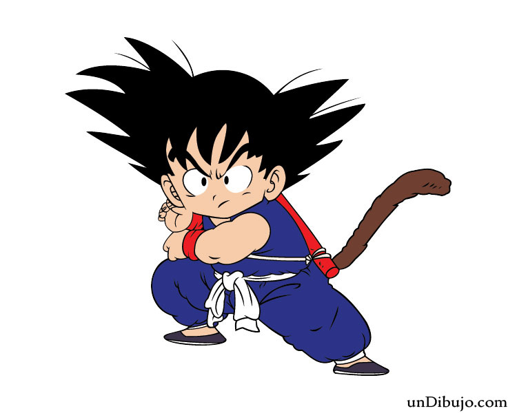 Dibujo De Goku Nino Para Imprimir Dibujos Faciles