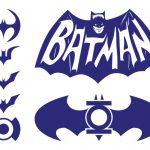 Dibujo con Logos de Batman azules