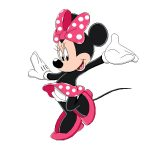 Dibujo de Minnie Mouse feliz
