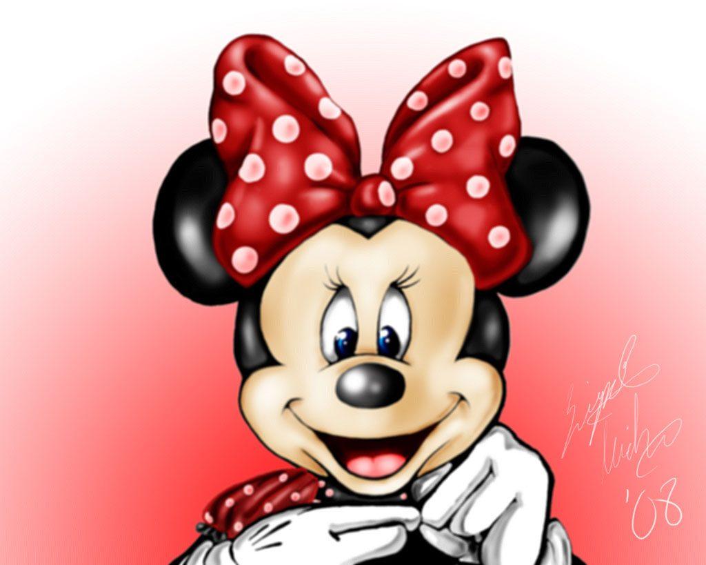 Dibujo de Minnie Mouse sonriendo