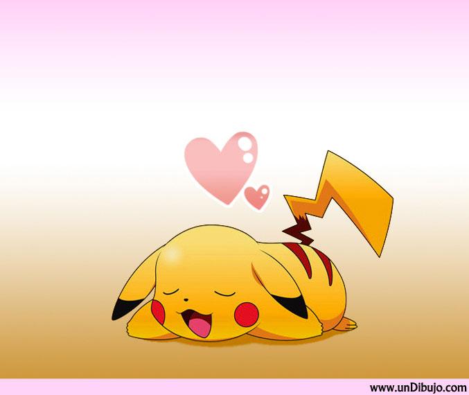 Dibujo de Pikachu enamorado