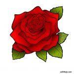 Dibujo de Rosa Roja para Imprimir