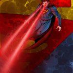 Dibujo de Superman usando su vision de calor