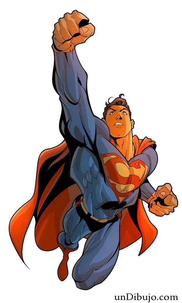 Dibujo de Superman volando