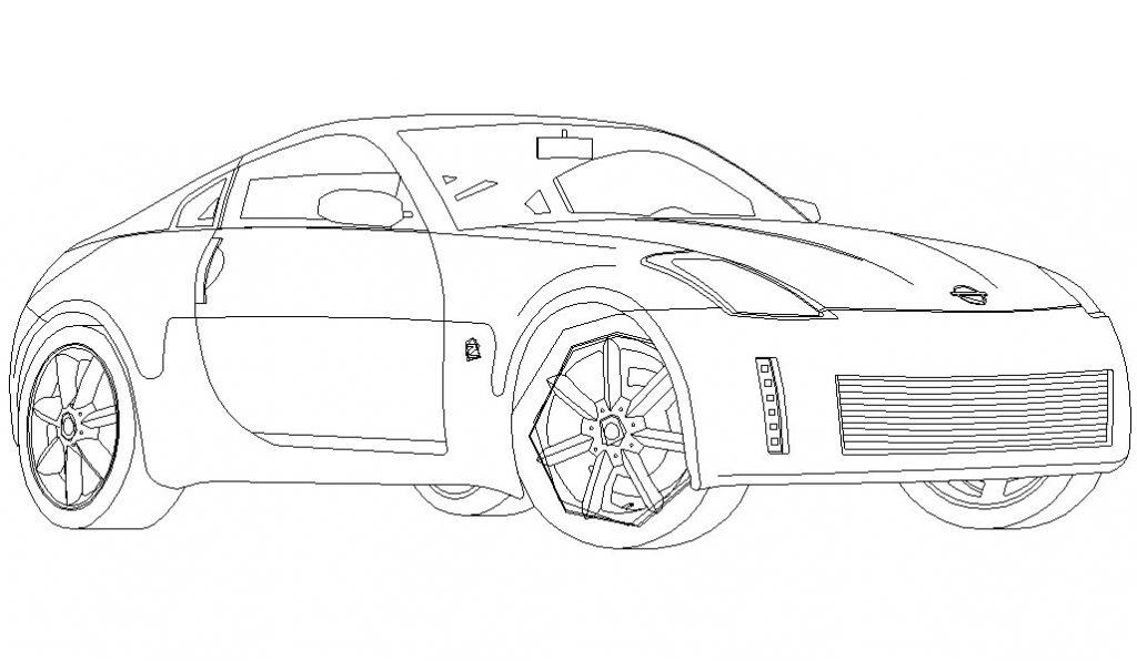 Dibujo de Nissan 350z