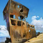 Dibujo de Barco abandonado para imprimir