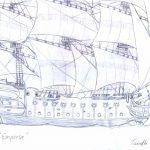 Dibujo de Barco Antiguo para Colorear