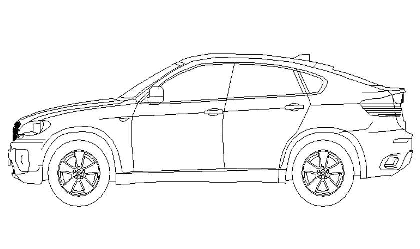 Dibujo de BMW X6 para pintar