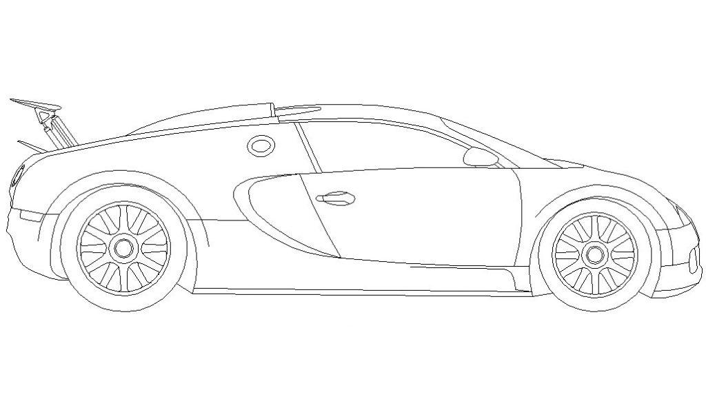 Dibujos De Coches Para Colorear Faciles: Dibujo De Bugatti Veyron