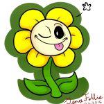 Dibujo de Girasol alegre para imprimir
