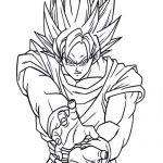 Dibujo de Goku manga para colorear