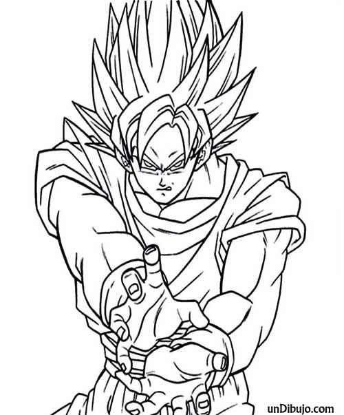 ▷ Dibujo de Goku manga para colorear   Dibujos Fáciles ⚡