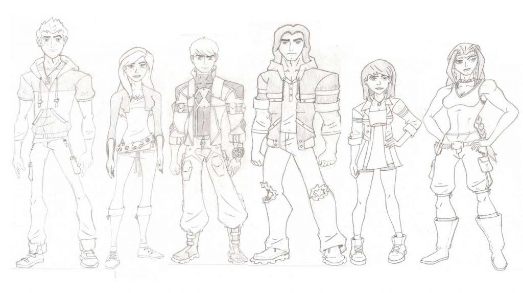 Dibujo de Personajes de Ben 10 a lapiz