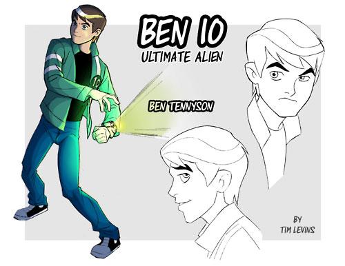 Dibujo de Rostros de Ben 10 para colorear