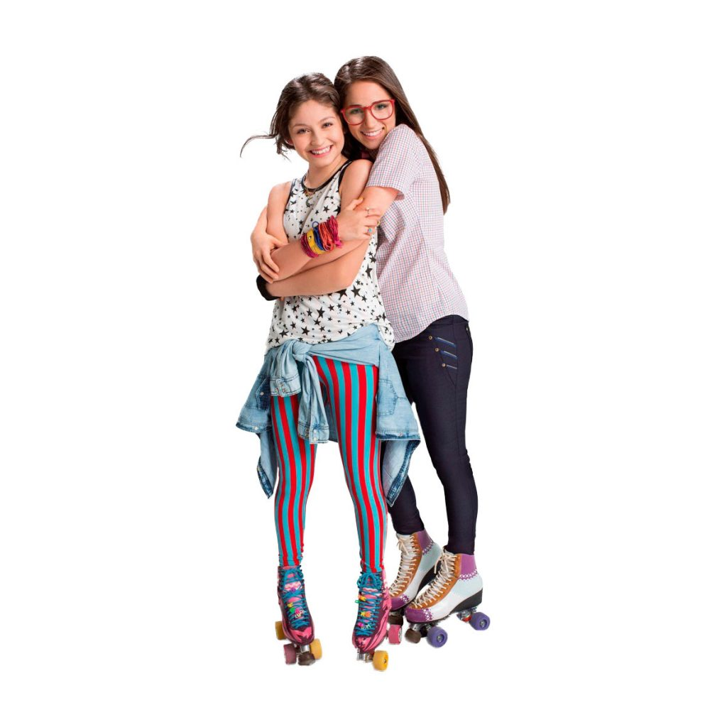 Dibujo de Soy Luna y Nina Simonetti en patines