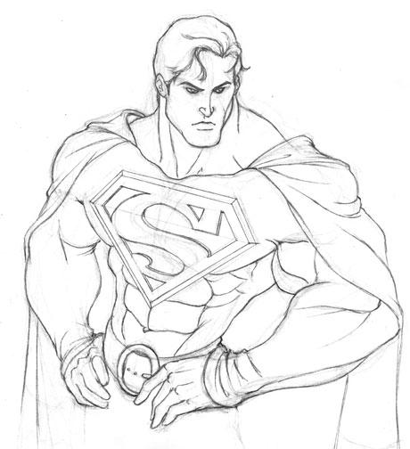 Dibujo de Superman a lapiz