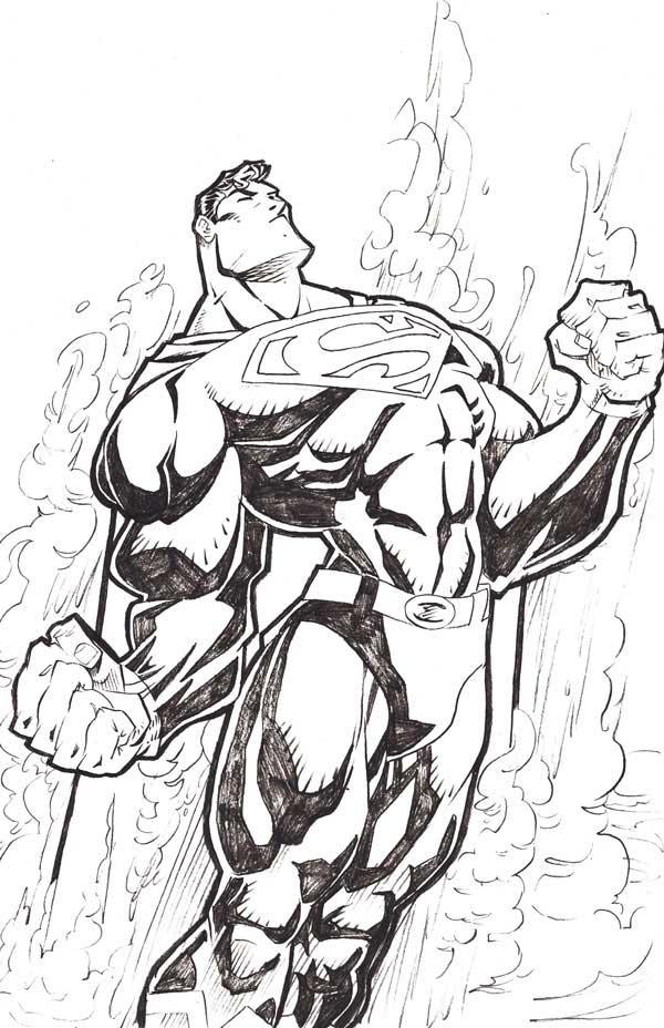 Dibujo de Superman para pintar