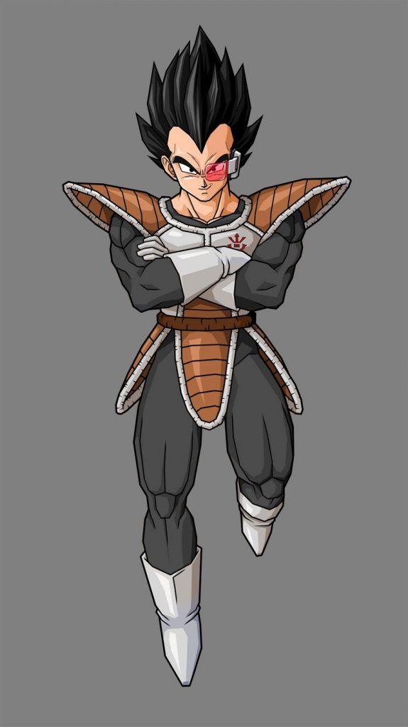 Vegeta con armadura Saiyan Elite