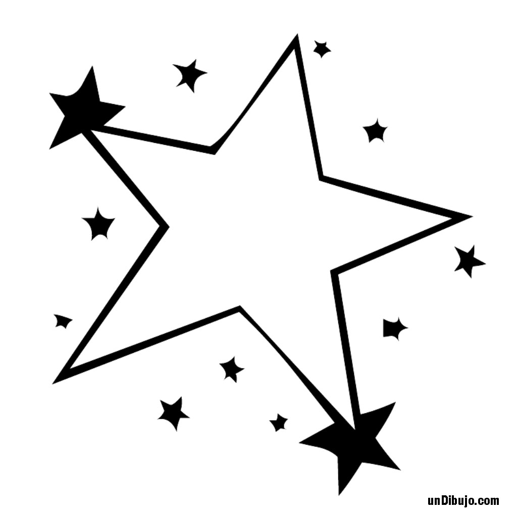 Estrella de 5 puntas para pintar