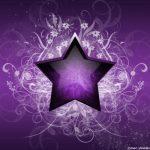 Estrella violeta con flores para imprimir