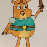 Dibujo de Principe Ivandoe a lapiz