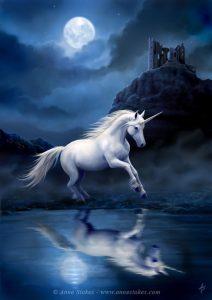 Dibujo de Unicornio a color para Imprimir