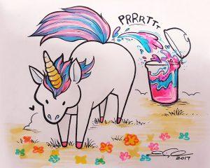 Dibujo de Unicornio Tierno
