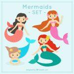 Dibujo de Sirenas a color