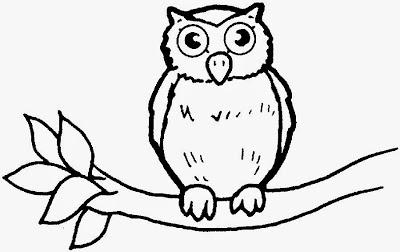 Dibujo De Buho Facil Para Colorear Dibujos Fáciles