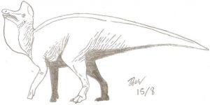 Dinosaurio Lambeosaurus a lapiz