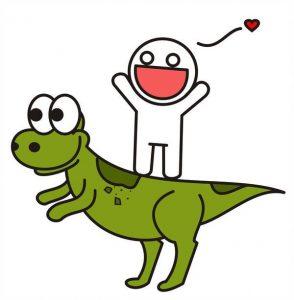 Dinosaurio verde facil