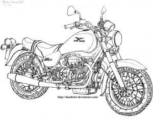 Motocicleta Guzzi para pintar