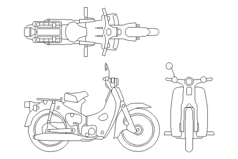 Motocicleta antigua para colorear