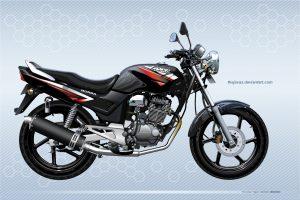 Moto honda color negro vectorizada