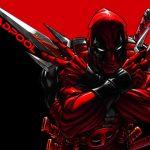 Dibujo de Deadpool con espadas