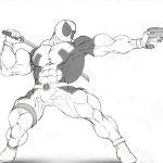 Dibujo de Deadpool musculoso para colorear