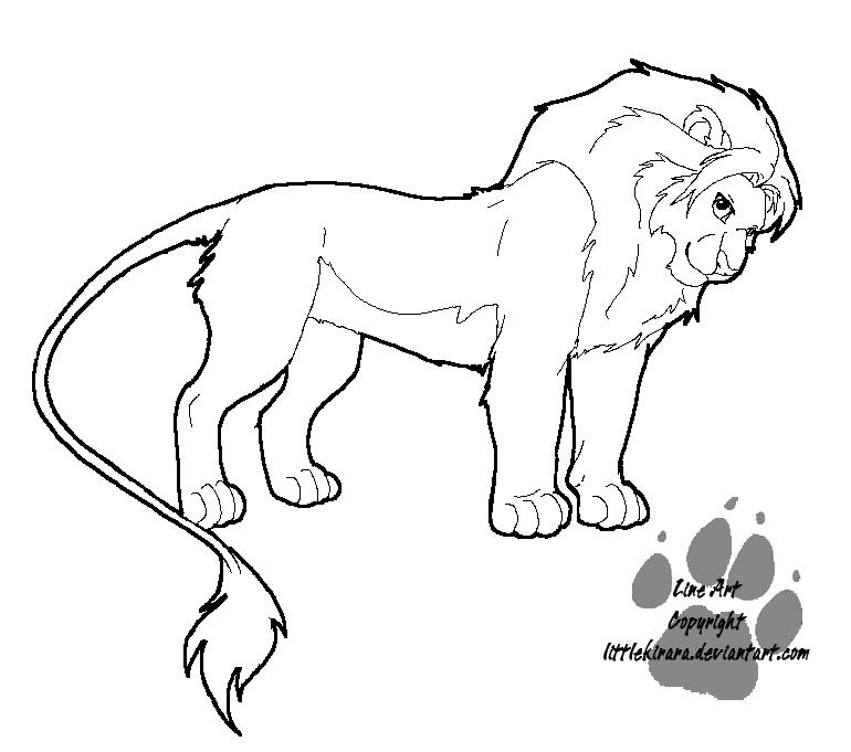 dibujo de leon facil para pintar