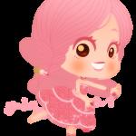 Dibujo de Hada infantil rosa para descargar