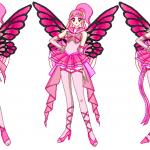 Dibujo de Hadas color rosa para imprimir